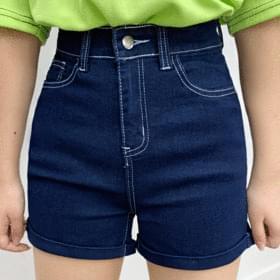 Non-stitched span short pants 短褲