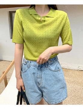 韓國空運 - Apple twist color knit 針織衫