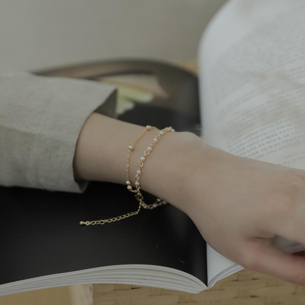 959 mini pearl 2 line bracelet