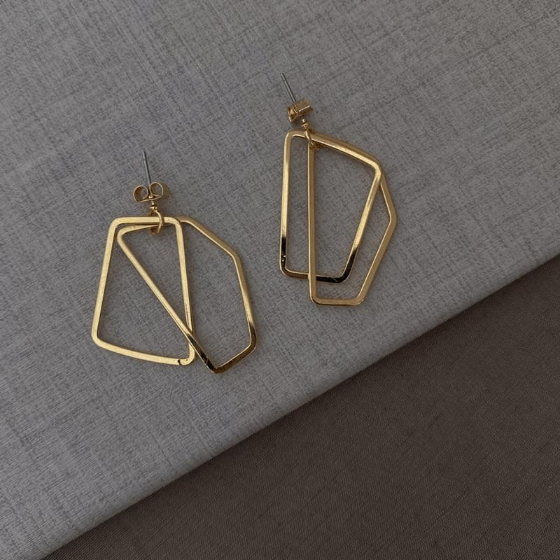 1774 two quadrangles earrings