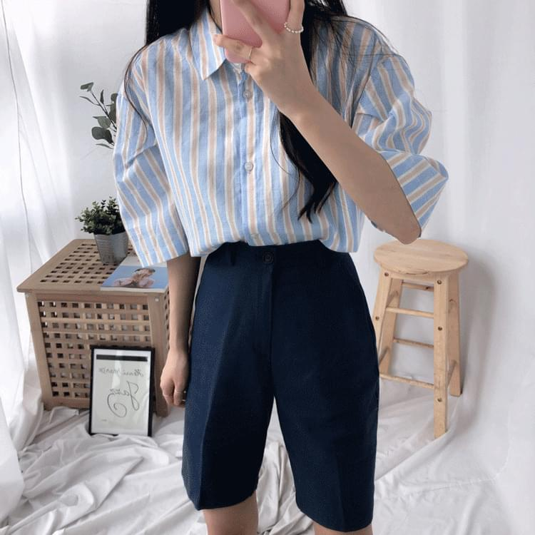 Striped southern shirt in spring ブラウス