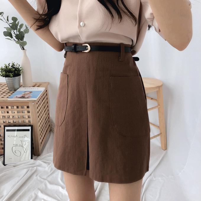 Mango Center Slit Mini Skirt スカート