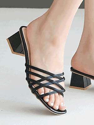 韓國空運 - Lasia Mule Slippers 5cm 涼鞋