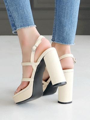 Shade kill heel strap sandals 10 cm