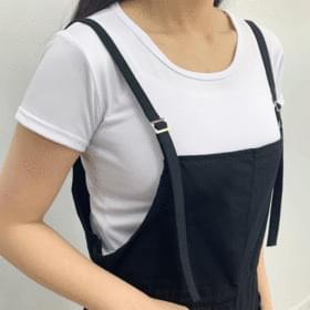 Diro short suspenders pants + short sleeve set 套裝