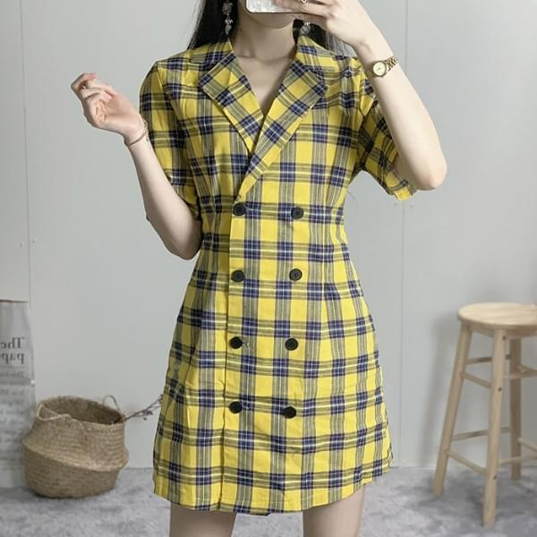 Sunday Check Caraburton Mini Dress
