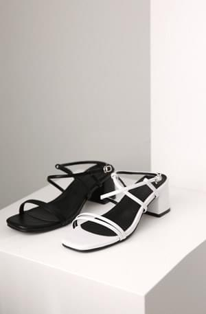 Double strap middle sandals
