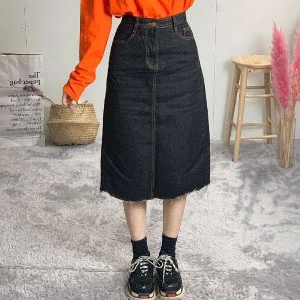 H-line denim long skirt 裙子