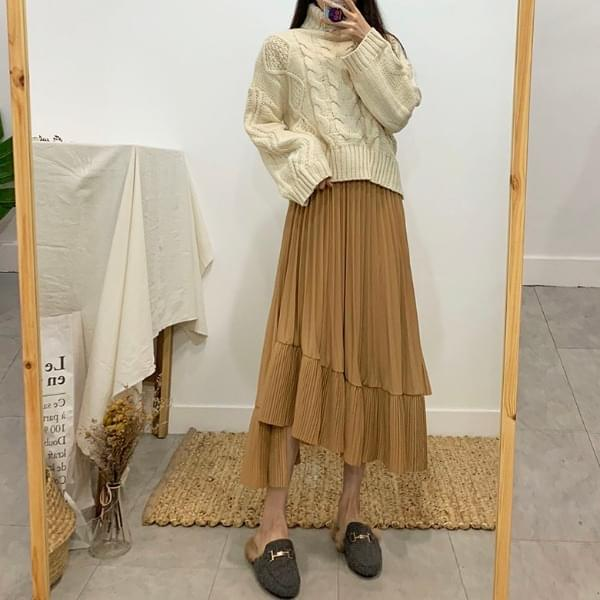 Lelia unfoot pleated long skirt