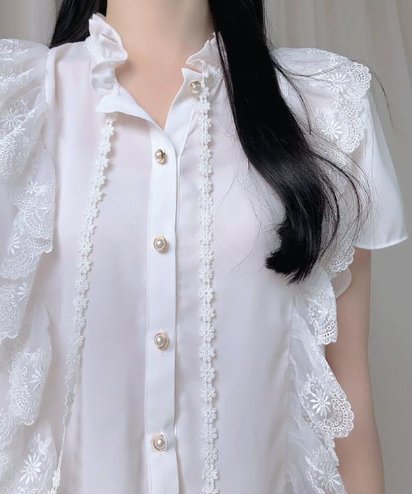 Vera Lace Ribbon Blouse