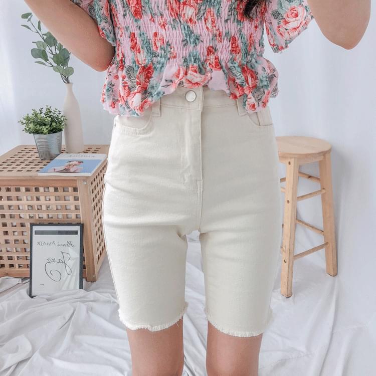 149 cotton skinny shorts ショートパンツ
