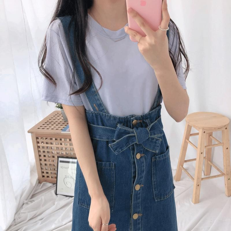 Modal Silky Round Short Sleeve T-Shirt 半袖