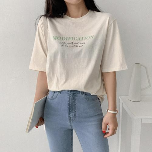 MODIFICATION燙印圓領T恤