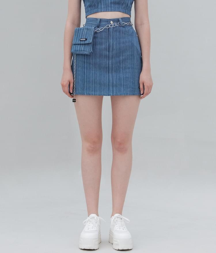 HIDE Stripe Denim Skirt