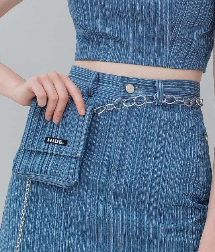 HIDE Stripe Denim Belt Bag 手拿包