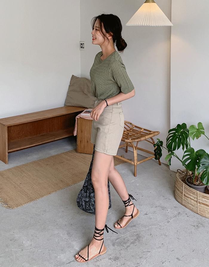쫀쫀 High waist shorts 短褲
