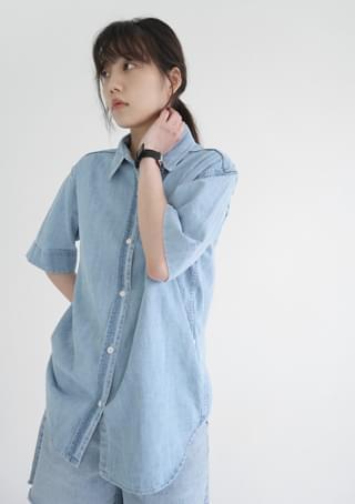 2-way denim shirt
