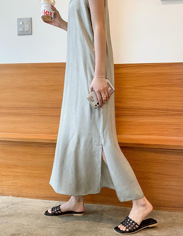 Modern satin slip dress