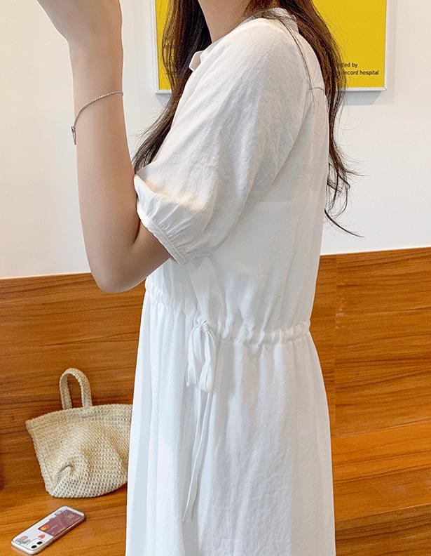 Waist string robe dress