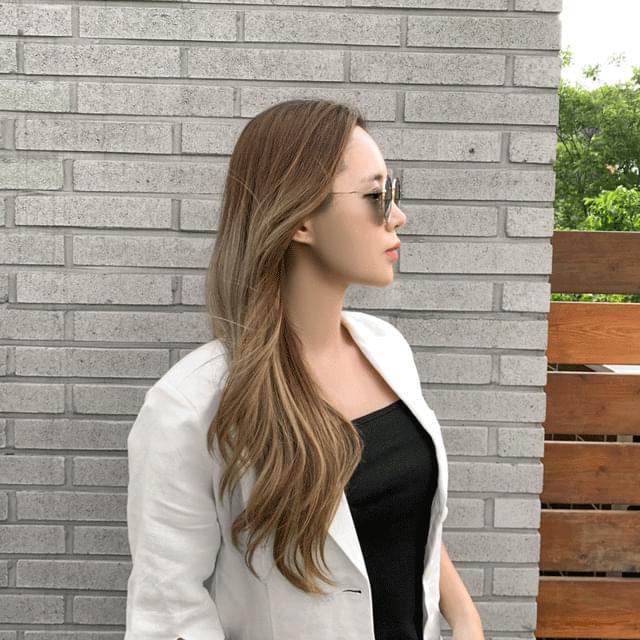 Metal round UV400 sunglasses