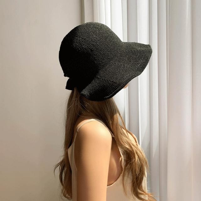 Rattan back vent bonnet hat 3color