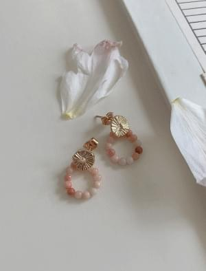 Gold Circle Bead Ring Earrings 耳環