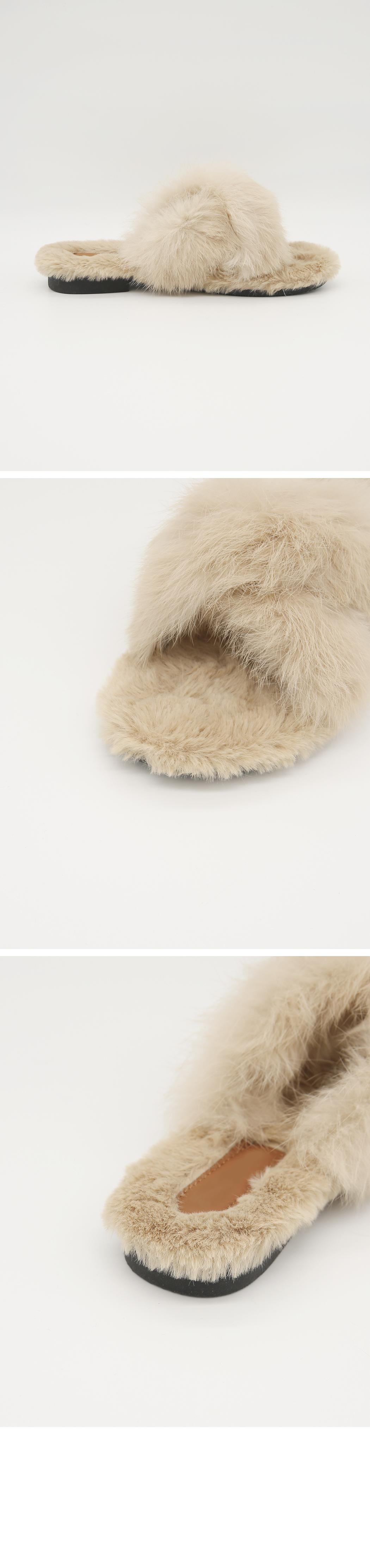 Rabbit Rex Real Fur Slipper