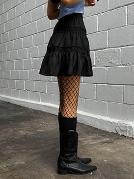 Flare fleece mini skirt