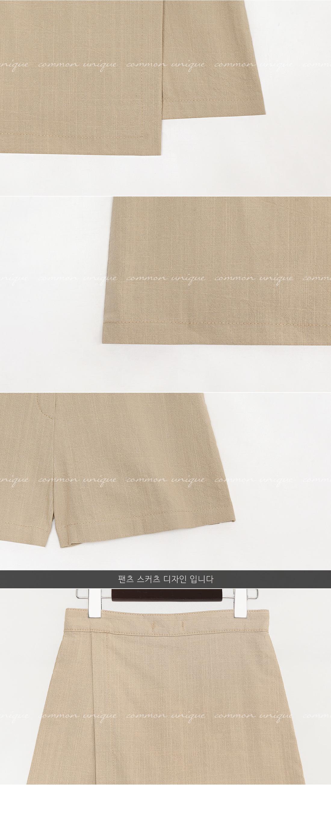 FOYL UNBAL WRAP PANTS SKIRT