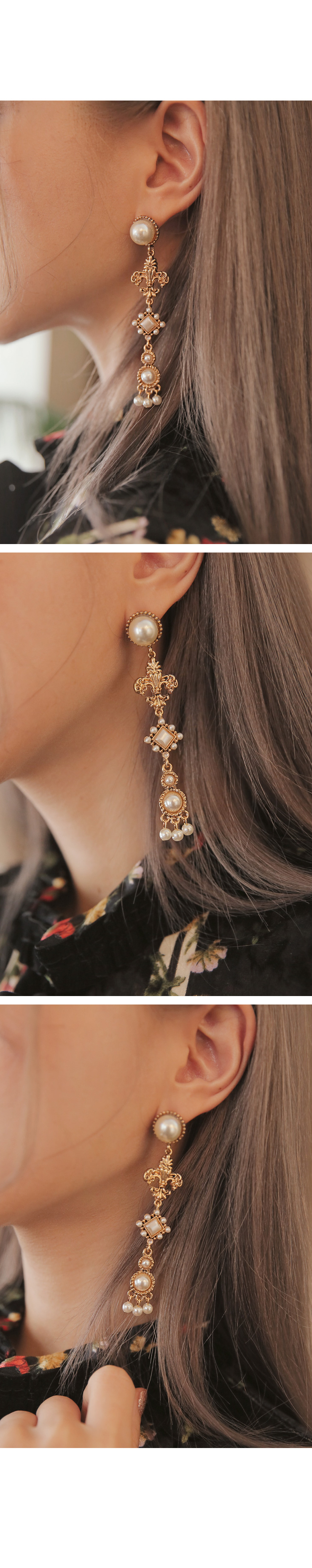 ANTIQUE PEARL DROP EARRING