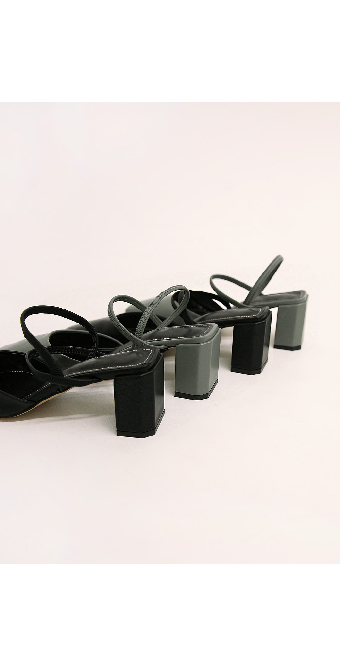 GERS SQUARE DOUBLE STRAP HEEL