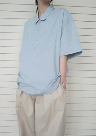 over-fit shirt or anorak ブラウス