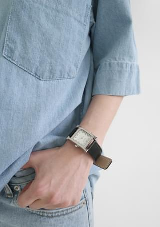 real leather modern watch 時計