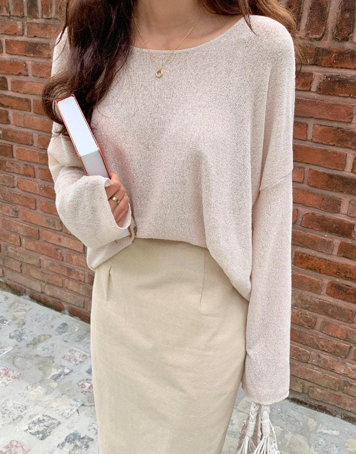Jolly loose-fit linen-knit T-shirt