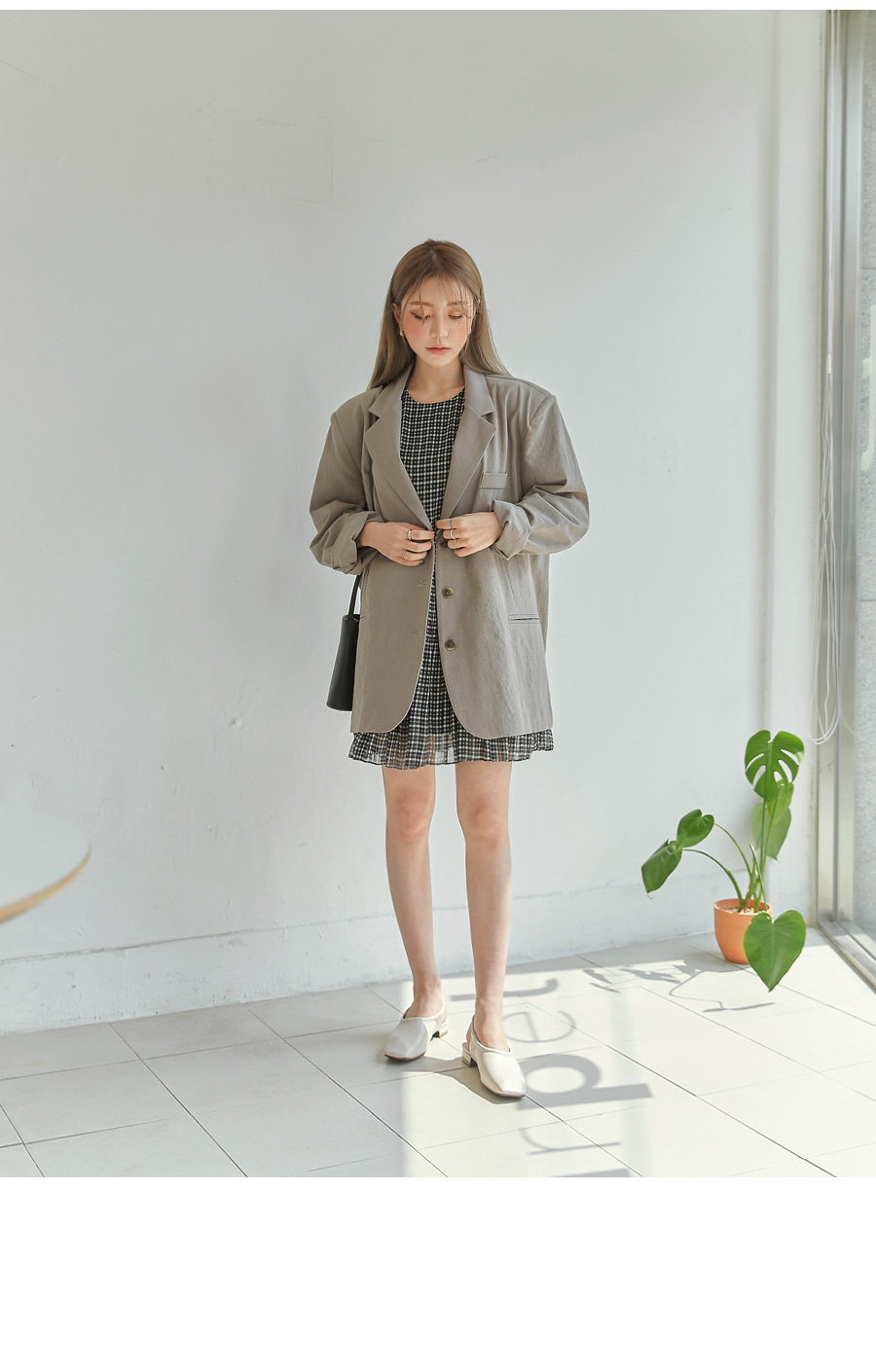 ADELL BOXY FIT LINEN JACKET
