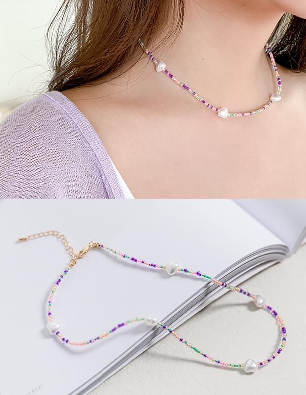 Candy pearl mix necklace