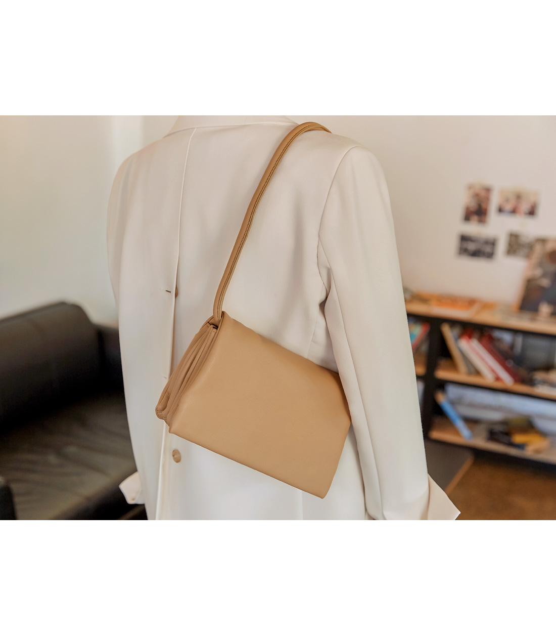 KAY 2 WAY SQUARE LEATHER BAG