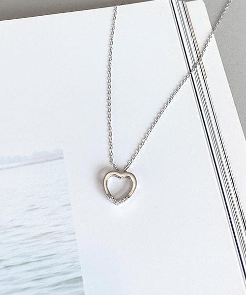 simple heart necklace 項鍊
