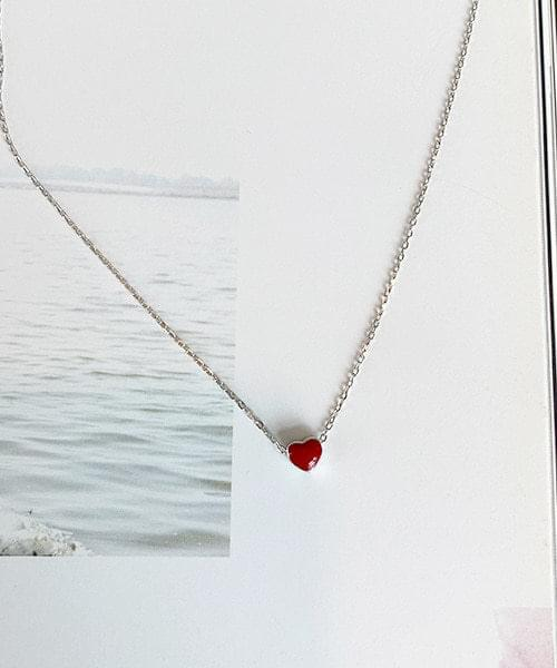 red heart necklace 項鍊