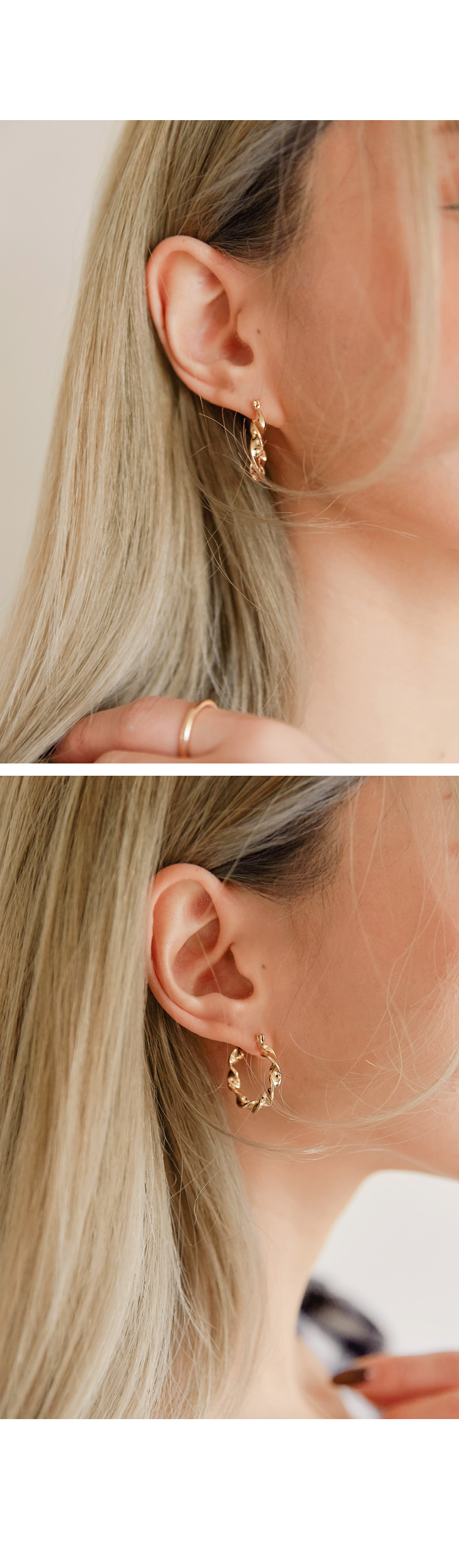 LENISION TWIST RING EARRING