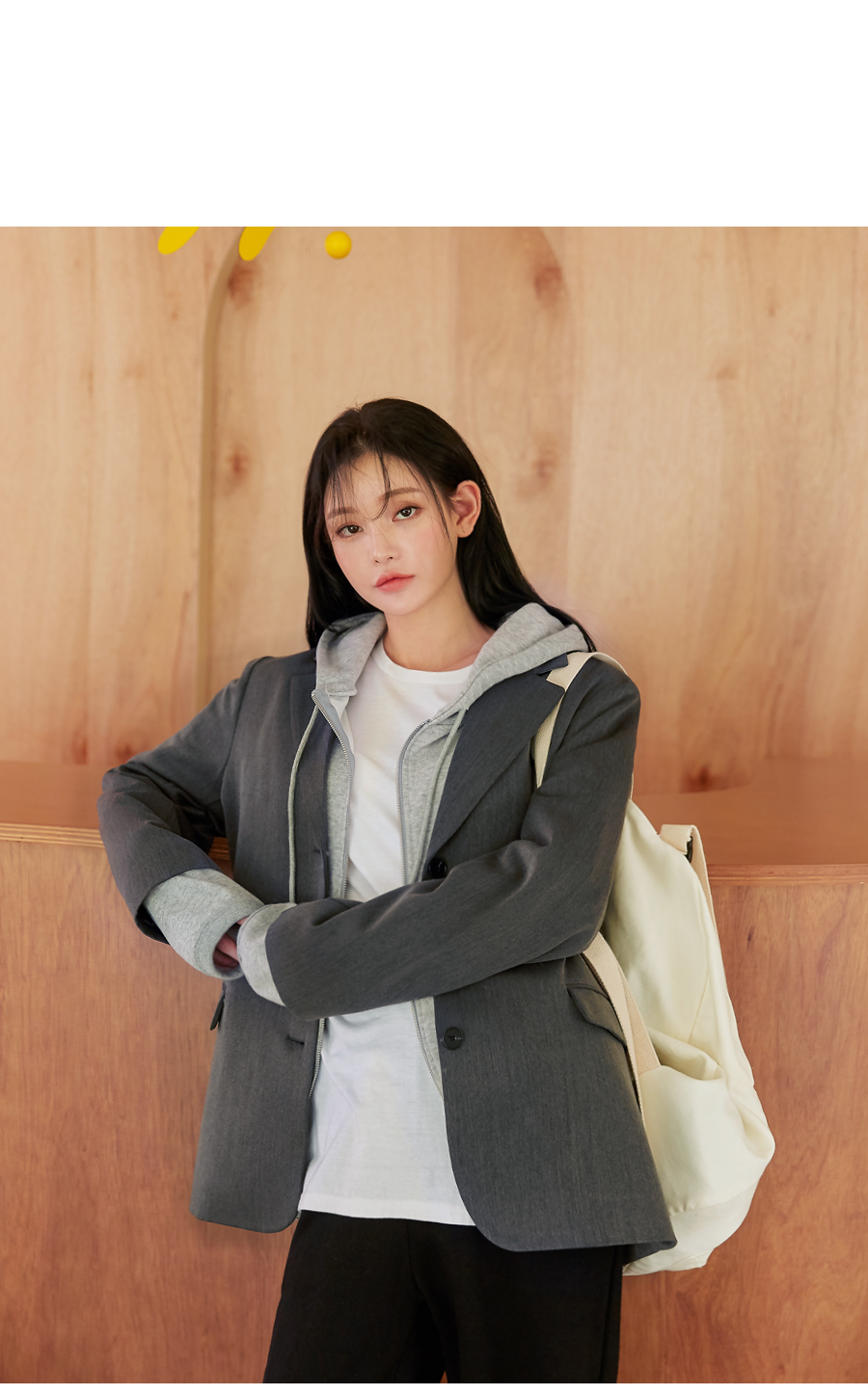 CORET LOOSE FIT HOOD ZIPUP