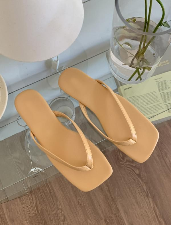 Square Shape Flip-flop Slippers 涼鞋