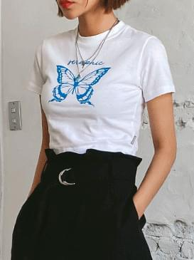 Cropped Dove Butterfly T-shirt