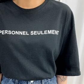 Personal lettering short sleeve tee 短袖上衣