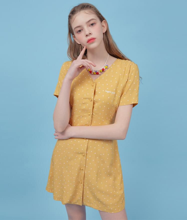 Heart Lace Up Mini Dress 洋裝