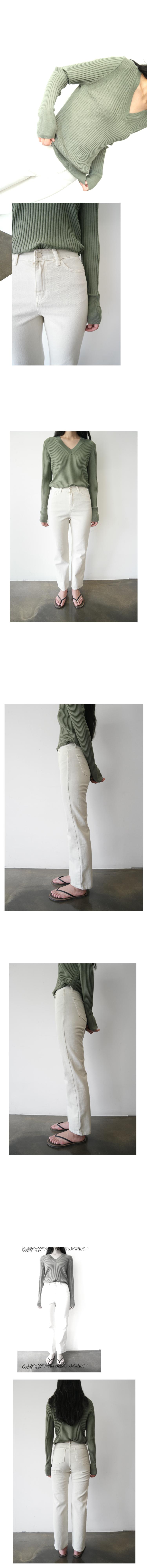 clean straight cotton pants