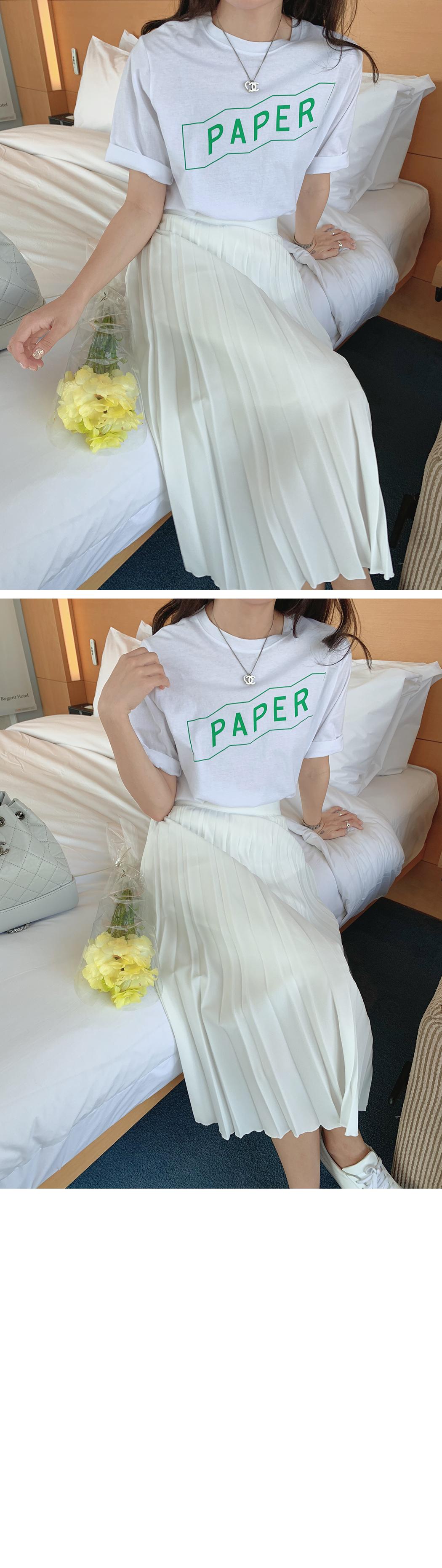 'PAPER' printing short sleeve tee