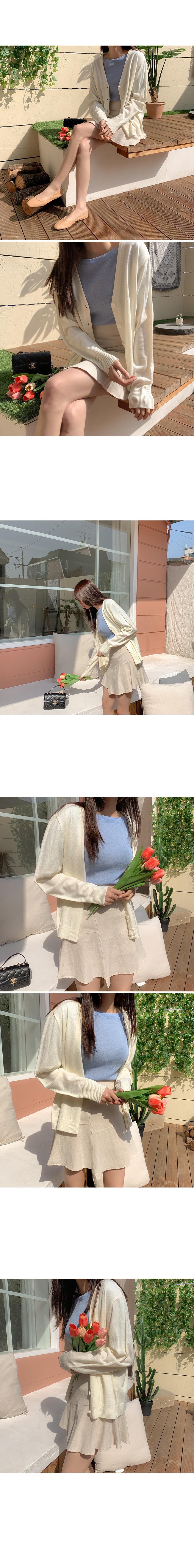 Roben Flare Linen Skirt