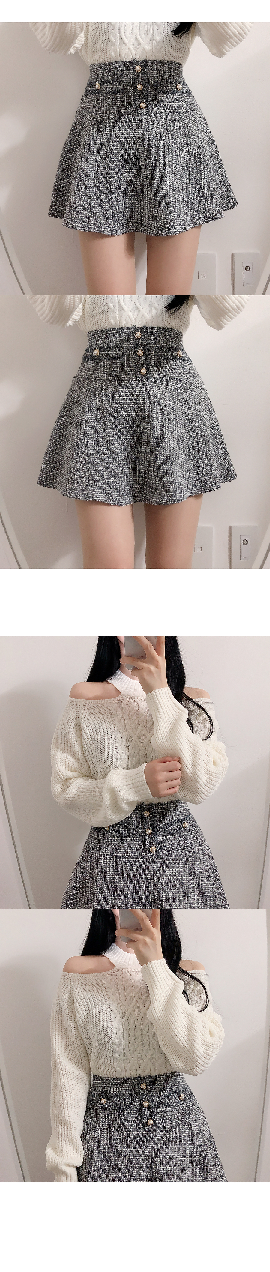 Choker Twist Shoulder Knit
