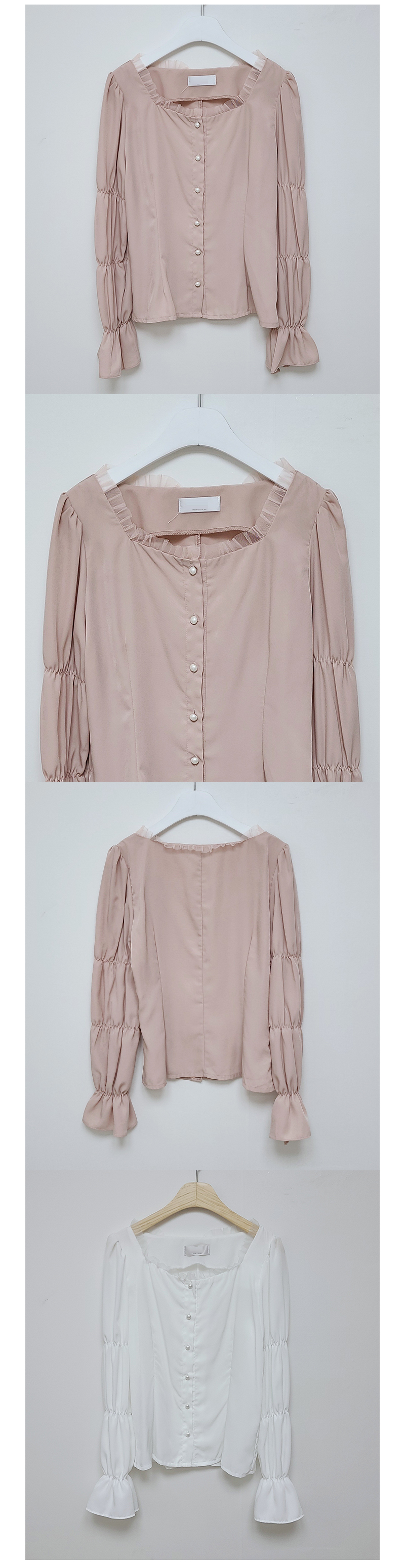 Laura Square Pearl Blouse